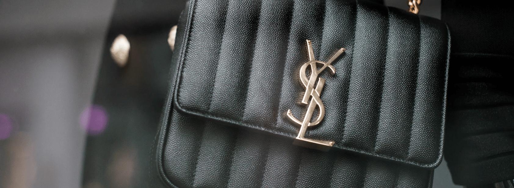 Schwarze Designer-Handtasche von YSL
